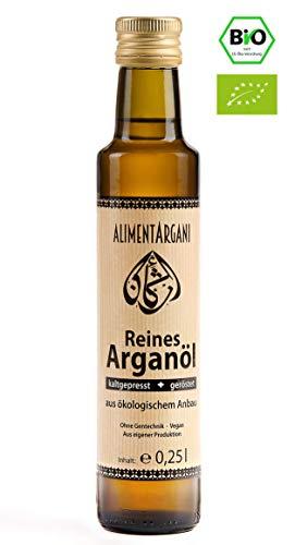 Alimentargani Bio Arganöl 250ml Speiseöl, geröstet, kaltgepresst und vegan (Fisch-öle Bio)