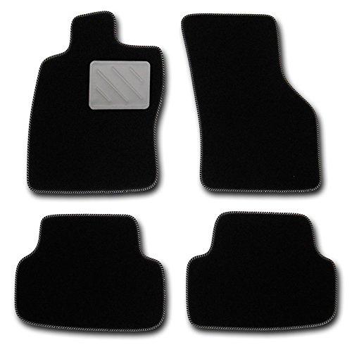 RAU Vestibilità Tappetini Highlight Nero con bordo argento tacco schoner–adatto per il veicolo di voi selezionati, Vedi descrizione articolo