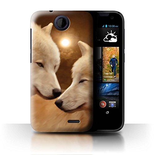 Officiel Elena Dudina Coque / Etui pour HTC Desire 310 / Loups Blancs Design / Les Animaux Collection