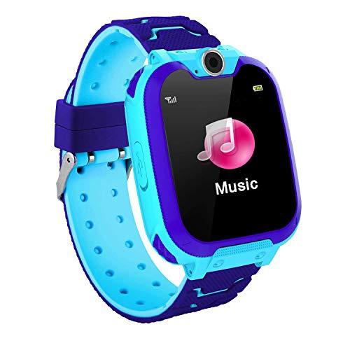 Kinder Smartwatch,Smart Watch mit Musik-Player, SOS, 1,44 Zoll LCD-Touchscreen-Uhr mit Digitalkamera, Spielen, Wecker für Jungen und Mädchen (LBS) (Uhren Kinder Screen Jungen Touch)