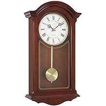 Reloj de pared tradicional de péndulo de Londres, caoba, ...