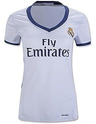 Femme 20162017Real Madrid CF maison DIY Nom et Numéro de Jersey de Football de football Blanc
