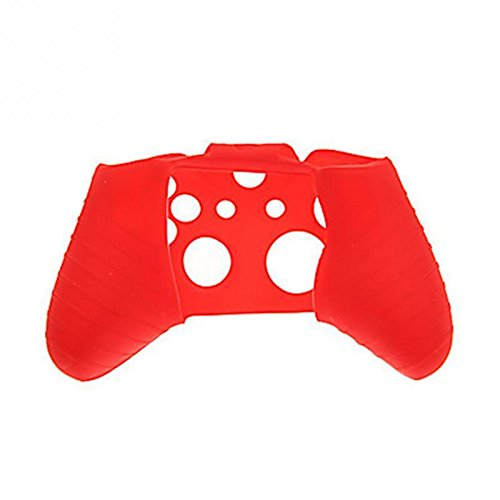 GADGETS WRAP Soft Silicone Rubber Protective Case Cover for Xbox One Controller - Red.