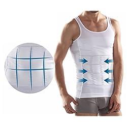 Camiseta Faja Abdominal Entallada Reductora Moldeadora Quemagrasas Adelgazante para Hombre Home Health Spain (M)
