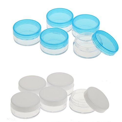 Baosity Kit 10pcs Pot Boîte Cosmétique Vide en Plastique - Capacité 3g / 10g