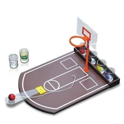 Oramics - Jeu à Boire - Jeu d'Alcool avec Panier de Basket & 6 Verres à Shots - Soirée entre Amis