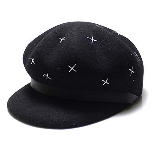 Chapeau de Soleil Décontracté Sauvage de la Mode, Chapeau de Parasol Chaud Pour Dame, Printemps Et Automne Et Hiver, YTTY, Noir