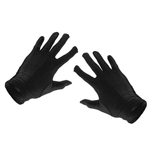 Frauen Damen Sonnenschutz UV-Schutz Handschuhe Opera Party Kleidung Kostüm - Schwarz, Einheitsgröße