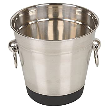 Stainless Steel Ice Bucket & Tongs Set 4