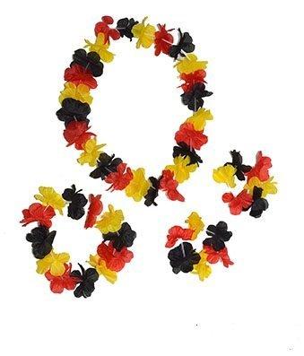Blütenkette Set 4 teilig Deutschland Kopfband mit Halskette,2 Armbänder EM 2016