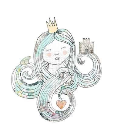 Princesse par ogren, Sarah–Fine Art Print Disponible sur papier et toile, Toile, SMALL (27.5 x 33 Inches )