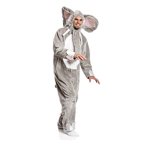 Kostümplanet Elefanten-Kostüm Herren Elefant grau lustiges Faschings-Kostüm Größe 52/54