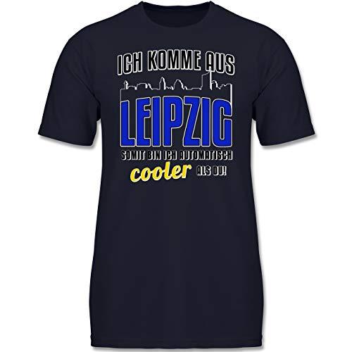 Städte & Länder Kind - Ich komme aus Leipzig - 164 (14/15 Jahre) - Dunkelblau - F130K - Kinder Tshirts und T-Shirt für Jungen