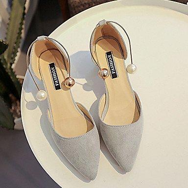 delle donne di conforto PU sandali estivi all'aperto tacco basso Blushing Rosa Grigio Nero US8 / EU39 / UK6 / CN39