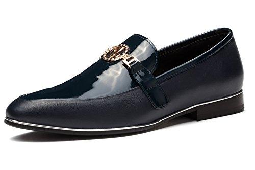 OPP hot Chaussures en Cuir Ornement de Métal Pour Hommes Noir