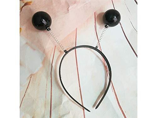 DOOUYTERT Künstliche Blumen Tier Antennen Weihnachten Hairband Stirnband Weihnachten Party Kopfschmuck (schwarz) Hochzeitssträuße (Tier-stirnbänder)