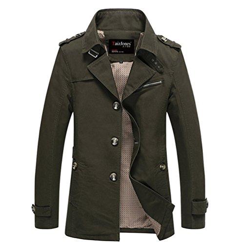 Purfeel da uomo giacca Trench Jacket Green XX-Large