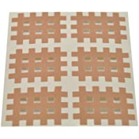 Medicalcorner24 Kinseologie Gittertape 3,6 cm x 2,8 cm 10 Bögen in Beige, Cross Patches, Cross Tape preisvergleich bei billige-tabletten.eu