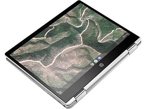 HP Chromebook 12b-ca006TU x360 Thin and Light Touchscreen 12-inch Laptop (4GB/64GB eMMC SSD + 100GB Cloud Storage/Chrome OS/Intel UHD Graphics), Natural Silver Image 8