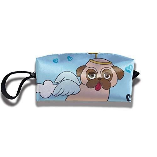 Neun Eva Kostüm - Mops mit engel kostüm leinwand reise schminktasche stift tasche große aufbewahrungstasche tasche