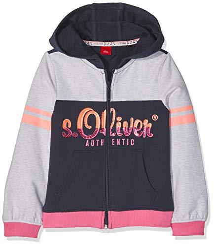 s.Oliver Mädchen 53.901.43.3341 Sweatjacke, Blau (Dark Blue 5834), 116 (Herstellergröße: 116/122/REG)
