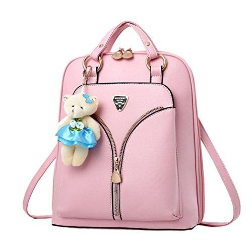 Sentao Damen Mädchen Casual Rucksäcke Schulrucksäcke Schultaschen Freizeitrucksack Pink