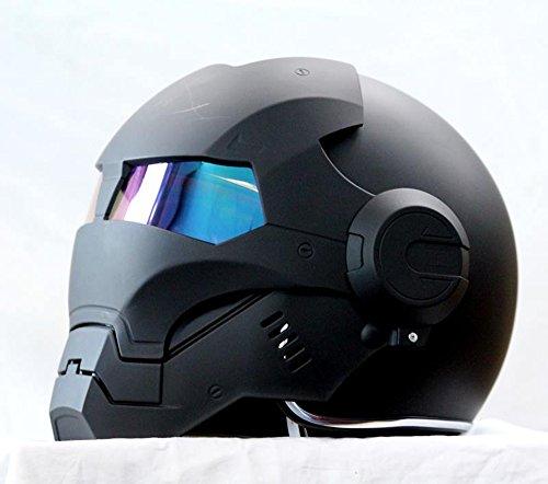 Generisches masei 610 atomicman racing motorrad dot helm s m l xl (schwarz)