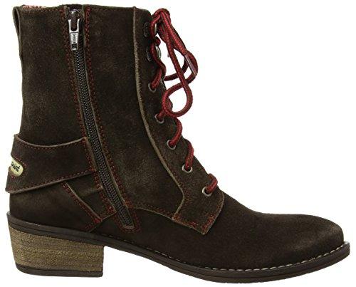 Stockerpoint Schuhe 7060 Damen Biker Boots Braun (moor gespeckt)