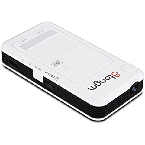 Atongm D9 Mini Proyector WIFI (Android 4.2, Dual Core, DLP LED, 1200 lúmenes, WVGA 1080P, HDMI, AV,VGA,OTG,Powerbank, Multilenguaje)