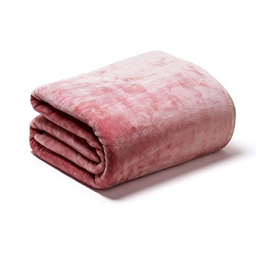 Sancarlos OSLO - Manta Lisa de Terciopelo Suave, Color Rosa, Cama de...