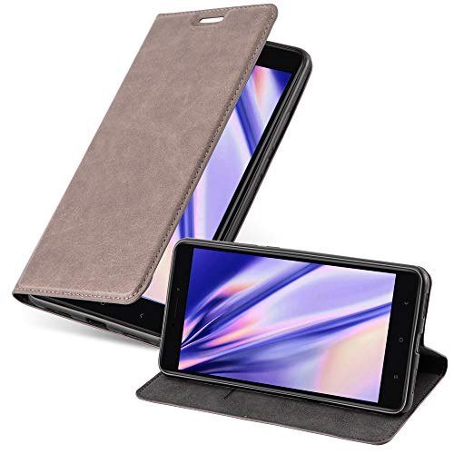 Cadorabo Funda Libro para Xiaomi Mi MAX 2 en MARRÓN CAFÉ - Cubierta Proteccíon con Cierre Magnético, Tarjetero y Función de Suporte - Etui Case Cover Carcasa