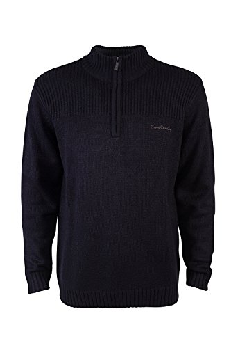 pierre-cardin-mens-new-season-1-4-zip-ribbed-knitted-jumper-xl-black