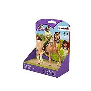 Schleich - Horse Club Sarah & Mystery. Figura de Amazona y Yegua