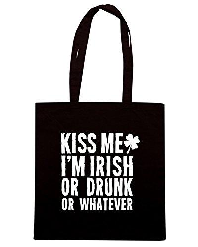 T-Shirtshock - Borsa Shopping TIR0126 kiss me im irish or drunk or whatever tshirt (1) Nero