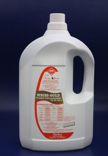 Wasserrose® 3 L VOLLWASCHMITTEL FLÜSSIG WASCHMITTEL WEISS-GOLD MADE IN GERMANY