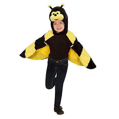Widmann 97435 Kinderkostüm Biene aus Plüsch, Umhang mit Kapuze und Maske (Honig Biene Kostüm Kind)