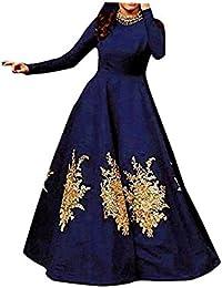 Shree Women's Silk Unstitched Lehenga Choli (SRENT013_Blue_Free Size)