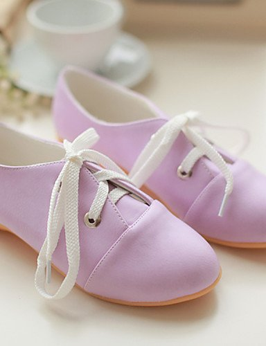ZQ hug Scarpe Donna - Stringate - Casual - Punta arrotondata - Basso - Finta pelle - Viola / Bianco , purple-us8 / eu39 / uk6 / cn39 , purple-us8 / eu39 / uk6 / cn39 purple-us6.5-7 / eu37 / uk4.5-5 / cn37