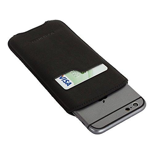 """Solo Pelle iPhone 8 Plus / 7 Plus / 6 Plus / 6S Plus Case Lederhülle Ledertasche """"Leon"""" 5,5 Zoll aus echtem Leder als edles Zubehör für das Original Apple iPhone 7 Plus / 6 Plus / 6S Plus in Cognac Br Vintage Schwarz"""