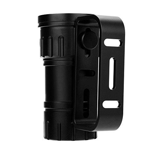 DOGZI Led Taschenlampe Verstellbar, Baumarkt Eisenwaren - 80m LED Tauchen Taschenlampe Fotografie Licht Unterwasser IPX8 Wasserdichte Taschenlampe