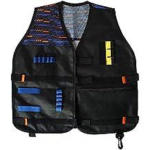 XuBa Chaleco Táctico de Accesorios de Juego Equipo Exterior para Niños Nerf Guns N-Strike