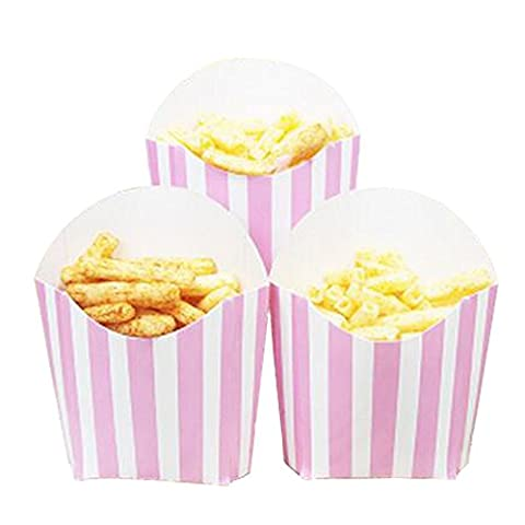 12 PCS Birthday Party Supplies Popcorn Cups Boîtes alimentaires pour frites / sucre - A3