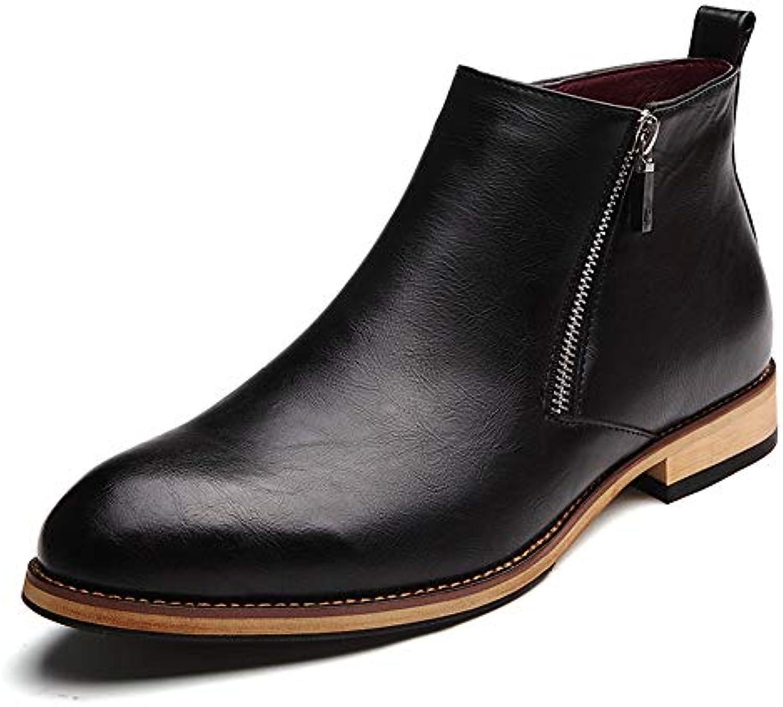 Jiuyue-scarpe, Stivaletti da Uomo Casual Classic Zipper High Top Scarpe comode per Il Tempo Libero Scarpe Stivali... | Fornitura sufficiente  | Uomini/Donne Scarpa