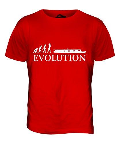 CandyMix Schiff Ohne Eigenen Antrieb Evolution Des Menschen Herren T Shirt Rot