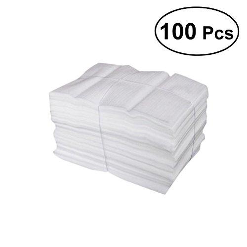 VORCOOL 100 Kissen-Schaum-Beutel, schützen Becher, Gläser, China und Teller, Verpackungszubehör, Verpackung Polstermaterial für den Umzug