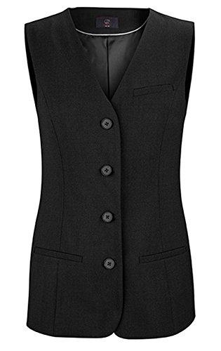 Greiff Damen-Weste PREMIUM, Stretch, Comfort Fit, 1244, schwarz, Größe 52 (Stretch-wolle 3-knopf-anzug)