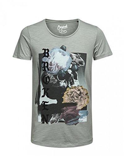 JACK & JONES Herren Oberteile/T-Shirt jorEdge Cloud Dancer (12123487)
