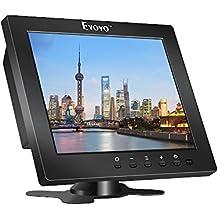 Eyoyo S801C 8 Pulgadas Monitor TFT LCD Pantalla (4: 3,1204x768, 250cd / ㎡ ,VGA, BNC, AV, HDMI, Ypbpr)