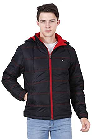 Forest Club | Light Weight | Casual Wear | Quilted Jackets | Winter Jackets for Men | Hood Removable | Black