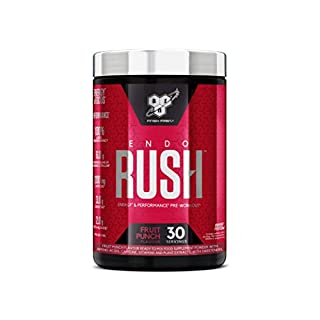 Bsn Endorush Pre Workout Powder With Creatine Monohydrate, Beta Alanine, Caffeine, Arginine & Citrulline By - Fruit Punch, 30 servings, 495g